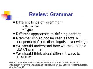 Review: Grammar