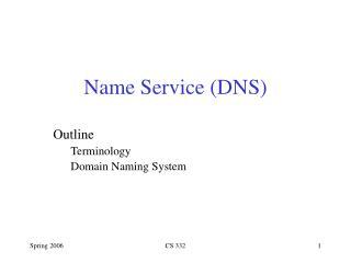 Name Service (DNS)