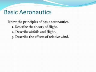 Basic Aeronautics