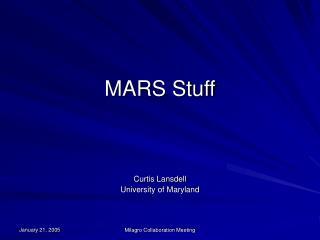MARS Stuff