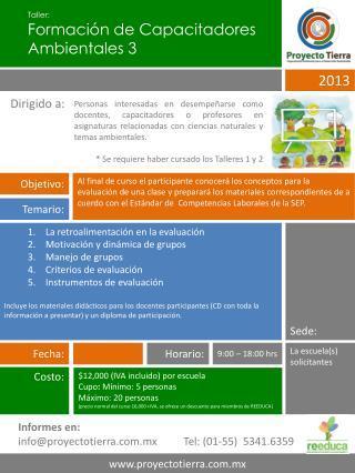 Taller: Formación de Capacitadores Ambientales  3