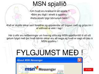 MSN spjallið