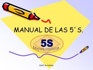 MANUAL DE LAS 5�S.