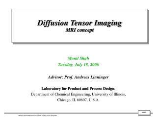 Diffusion Tensor Imaging  MRI concept