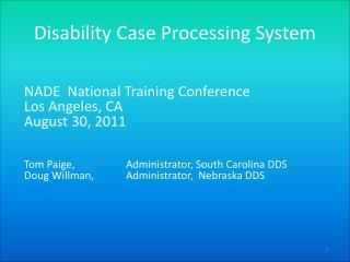 Disability Case Processing System