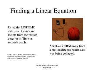 Finding a Linear Equation