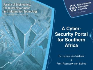 A Cyber-Security Portal for Southern Africa