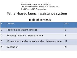 Tether-based launch assistance system