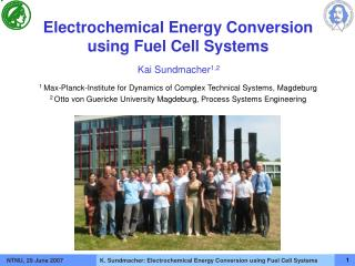 Electrochemical Energy Conversion  using Fuel Cell Systems