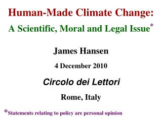 Human-Made Climate Change: