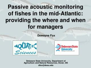 Delaware State University, Department of Agriculture and Natural Resources, Dover, DE