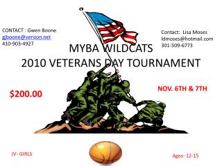 MYBA WILDCATS 2010 VETERANS DAY TOURNAMENT