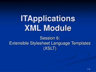 ITApplications  XML Module