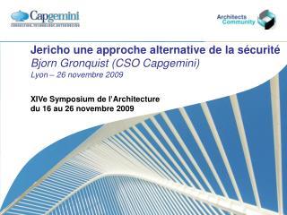 XIVe Symposium de l'Architecture  du 16 au 26 novembre 2009