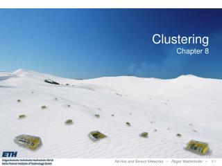 Clustering Chapter 8