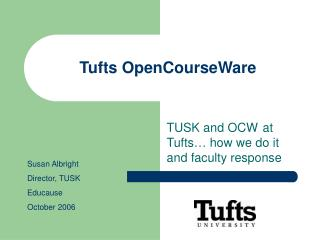 Tufts OpenCourseWare