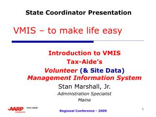 VMIS – to make life easy