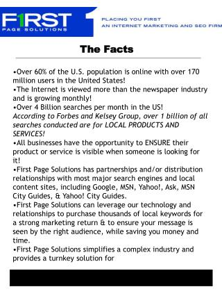 •Over 60% of the U.S. population is online with over 170 million users in the United States!
