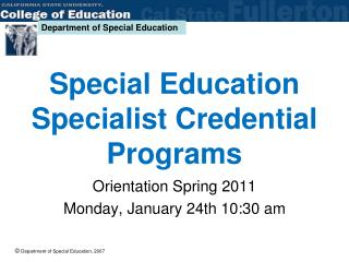 Special Education Specialist Credential Programs