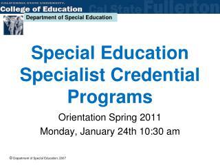 Special Education Specialist Credential Programs