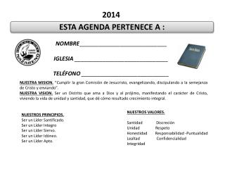 ESTA AGENDA PERTENECE A :