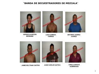""" BANDA DE SECUESTRADORES DE MEZCALA """