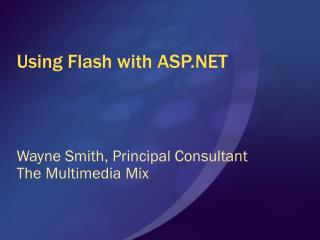 Using Flash with ASP.NET