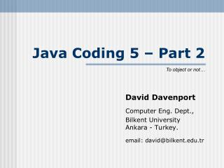 Java Coding 5 � Part 2