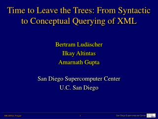 Time to Leave the Trees: From Syntactic to Conceptual Querying of XML