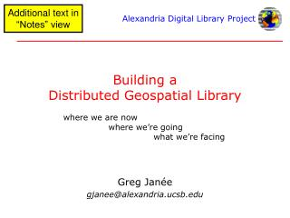Building a Distributed Geospatial Library
