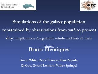 Bruno Henriques  Simon White, Peter Thomas, Raul Angulo,  Qi Guo, Gerard Lemson, Volker Springel