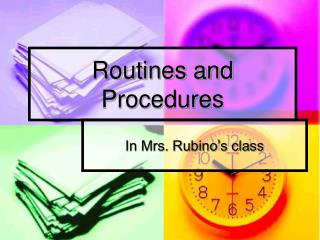 Routines and Procedures
