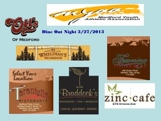 Dine Out Night 3/27/2013