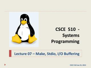 CSCE  510  - Systems Programming