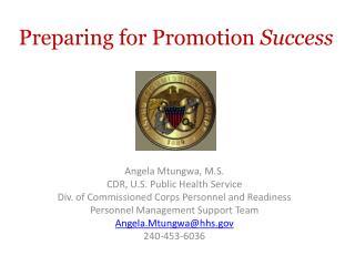Preparing for Promotion  Success