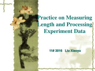 Practice on Measuring Length and Processing Experiment Data