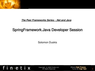 SpringFramework.Java Developer Session