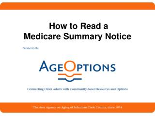 How to Read a  Medicare Summary Notice