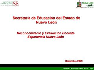 Reconocimiento y Evaluación Docente Experiencia Nuevo León