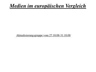 Medien im europäischen Vergleich