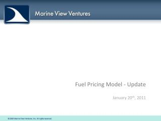 Fuel Pricing Model - Update