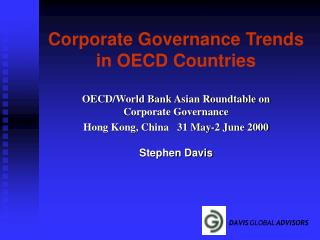 Corporate Governance Trends in OECD Countries