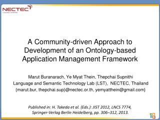A Community-driven Approach to Development of an Ontology-based Application Management Framework