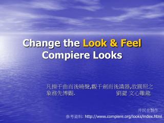 Change the  Look & Feel Compiere Looks