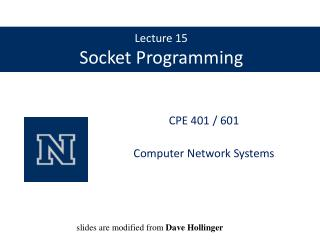 Lecture 15 Socket Programming