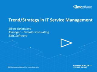 Trend/Strategy in IT Service Management