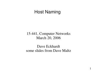 Host Naming