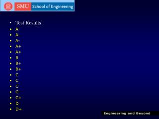 Test Results A A- A- A+ A+ B B+ B+ C C C C- C+ D D+