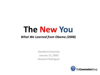The New You What We Learned from Obama (2008)