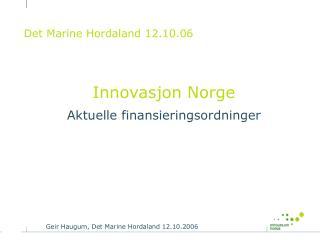 Det Marine Hordaland 12.10.06